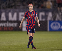EAST HARTFORD, CT - JULY 1: Becky Sauerbrunn #4 of the USWNT watches the field during a game between Mexico and USWNT at Rentschler Field on July 1, 2021 in East Hartford, Connecticut.