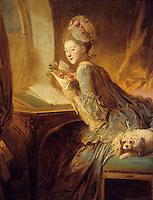 Jean H. Fragonard 1732-1806.  Le Billet Deux.  Met. Museum of Art. Reference only.