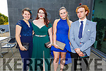 Natalia Leen, Aoibhín Collins, Shenice Good and Ray Waters attending the Killarney Community College, St. Brendan's and St. Bridget's School debs in the Ballyroe Heights Hotel on Monday night