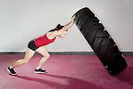 MODEL RELEASED - Caucasian female fitness model..2012 © Steve Boyle