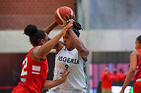Aischa Belarabe (9) of Nigeria pictured during a basketball game between Nigeria and Puerto Rico on Friday 28 th of May 2021 in Kortrijk , Belgium . PHOTO SPORTPIX.BE   SPP   STIJN AUDOOREN