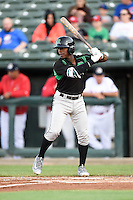 Dayton Dragons second baseman Shed Long (5) during a game against the Peoria Chiefs on May 6, 2016 at Dozer Park in Peoria, Illinois.  Peoria defeated Dayton 5-0.  (Mike Janes/Four Seam Images)