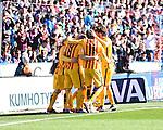 FC Barcelona's players celebrating the goal  during La Liga match. February 7, 2016. (ALTERPHOTOS/Javier Comos)