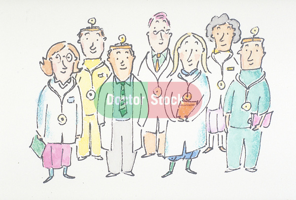 portrait of smiling group of doctors