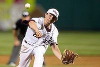 Cody Schumacher (21) of the Missouri State Bears delivers a pitch during a game against the Kansas Jayhawks at Hammons Field on March 27, 2012 in Springfield, Missouri. (David Welker/Four Seam Images).