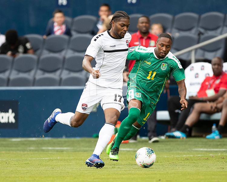 KANSAS CITY, KS - JUNE 26: Mekeil Williams #17, Callum Harriott #11 during a game between Guyana and Trinidad