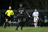 WINSTON-SALEM, NC - DECEMBER 07: Joey DeZart #14 of Wake Forest University passes the ball during a game between UC Santa Barbara and Wake Forest at W. Dennie Spry Stadium on December 07, 2019 in Winston-Salem, North Carolina.