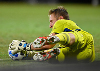 LAKE BUENA VISTA, FL - JULY 26: Tim Melia of Sporting KC makes a save during a game between Vancouver Whitecaps and Sporting Kansas City at ESPN Wide World of Sports on July 26, 2020 in Lake Buena Vista, Florida.