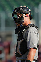 May 26, 2010: Doug Hogan of the Bakersfield Blaze during game against the Inland Empire 66'ers at Arrowhead Credit Union Park in San Bernardino,CA.  Photo by Larry Goren/Four Seam Images