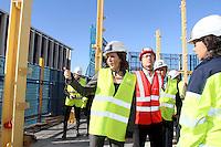 27 oct 2016 Marseille Nathalie Kosciusko Morizet visite le chantier de construction de la tour La Marseillaise