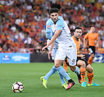 BRISBANE, AUSTRALIA - OCTOBER 30: Paulo Retre of Melbourne controls the ball during the round 5 Hyundai A-League match between the Brisbane Roar and Melbourne City at Suncorp Stadium on November 4, 2016 in Brisbane, Australia. (Photo by Patrick Kearney/Brisbane Roar)
