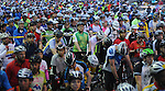 The first wave of cyclists prepare to start at the annual Tour de Houston bike ride downtown Sunday  March 16, 2014.(Dave Rossman photo)