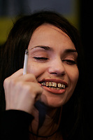Montreal,  CANADA - File Photo - French actress Beatrice Dalle news conference at the Festival du Nouveau Cinema, October 13, 2004.<br /> <br /> Photo :  Agence Quebec Presse - Pierre Roussel