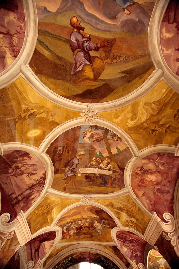 Painted ceiling vault Swieta Lipka Baroque Church Swieta Lipka Poland.