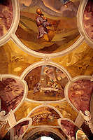 Painted ceiling vault Swieta Lipka Baroque Church Swieta Lipka Poland.