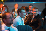 St Johnstone Hall of Fame Dinner, Perth Concert Hall...05.10.13<br /> St Johnstone plyers David Wotherspoon and Brian Easton watch the ceremony<br /> Picture by Graeme Hart.<br /> Copyright Perthshire Picture Agency<br /> Tel: 01738 623350  Mobile: 07990 594431