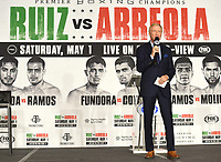 LOS ANGELES, CA - APRIL 28: Jimmy Lennon Jr. attends the press conference for the Andy Ruiz Jr. vs Chris Arreola Fox Sports PBC Pay-Per-View in Los Angeles, California on April 28, 2021. The PPV fight is on May 1, 2021 at Dignity Health Sports Park in Carson, CA. (Photo by Frank Micelotta/Fox Sports/PictureGroup)