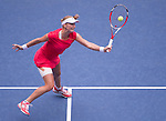 Elina Svitolina (UKR) loses to Ekaterina Makanrova (RUS) 6-3, 7-5 at the US Open in Flushing, Y on September 4, 2015.