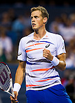 Vasek Pospisil (CAN) advances to the Citi Open final after defeating Richard Gasquet (FRA) by 67(5) 63 75 in Washington, DC on August 2, 2014.
