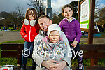 Enjoying the playground in the Tralee town park on Thursday, l to r: Olivia, Joyce and Katie Laide and Mairead Ní Mhaoileoin.