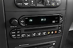 Stereo audio system close up detail view of a 2009 Chrysler Pacifica Touring