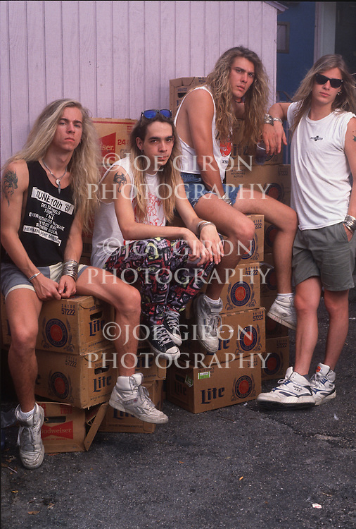 Various portrait sessions of the rock band, Every Mother's Nightmare