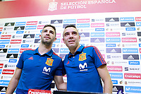Spain's Yeray Alvarez (l) and Iago Aspas in press conference after training session. May 29,2018.(ALTERPHOTOS/Acero) /NortePhoto.com