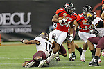 Texas Tech Red Raiders running back Eric Stephens Jr. (24) in action during the Meineke Car Care Bowl game of Texas between the Texas Tech Red Raiders and the Minnesota Golden Gophers at the Reliant Stadium in Houston, Texas. Texas defeats Minnesota 34 to 31.