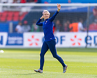 PARIS,  - JUNE 16: Megan Rapinoe #15 steps onto the field during a game between Chile and USWNT at Parc des Princes on June 16, 2019 in Paris, France.