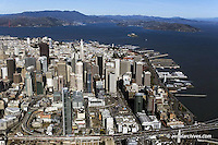 aerial photograph One Rincon Hill, skyline,San Francisco, California