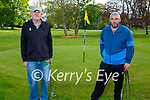 Enjoying a game of golf in the Listowel town park on Thursday, l to r: Fergus Keane and Sean Broderick.