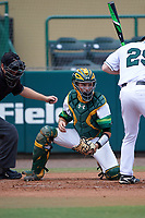 South Florida Bulls catcher Tyler Dietrich (38) during a game against the Dartmouth Big Green on March 27, 2016 at USF Baseball Stadium in Tampa, Florida.  South Florida defeated Dartmouth 4-0.  (Mike Janes/Four Seam Images)