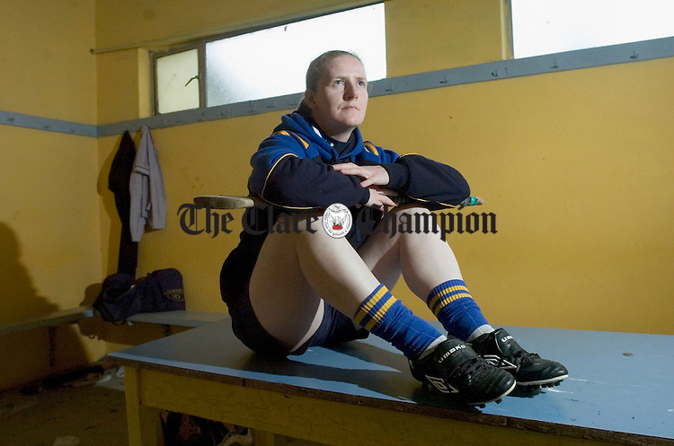 Clare junior camogie team's  Cathy Halley. Photograph by John Kelly