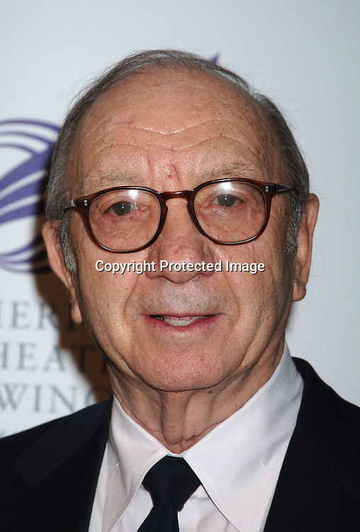 Neil Simon ..at The American Theatre Wing's Annual Spring Gala honoring Matthew Broderick and Nathan Lane on ..April 10, 2006 at Cipriani 42nd Street. ..Robin Platzer, Twin Images