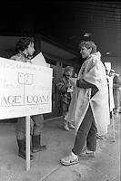 Greve des charges de cours de l'UQAM, 7 Avril 1987