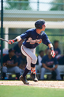 GCL Braves catcher Collin Yelich (30) at bat during a game against the GCL Pirates on August 10, 2016 at Pirate City in Bradenton, Florida.  GCL Braves defeated the GCL Pirates 5-1.  (Mike Janes/Four Seam Images)