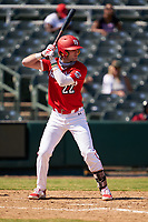Alex Mooney (22) bats during the Baseball Factory All-Star Classic at Dr. Pepper Ballpark on October 4, 2020 in Frisco, Texas.  Alex Mooney (22), a resident of Rochester Hills, Michigan, attends Orchard Lake St. Mary's Preparatory School.  (Ken Murphy/Four Seam Images)