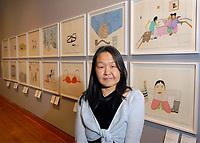 Annie Pootoogook, lauréate du Prix artistique Sobey 2006 (Groupe CNW/Scotiabank)
