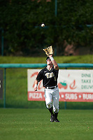 Pittsburgh Panthers right fielder Nico Popa (1) catches a fly ball during a game against the Siena Saints on February 24, 2017 at Historic Dodgertown in Vero Beach, Florida.  Pittsburgh defeated Siena 8-2.  (Mike Janes/Four Seam Images)