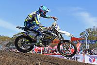 Nathan Crawford / Husqvarna<br /> 2016 MX Nationals / Round 1 / MX2<br /> Australian Motocross Championships<br /> Horsham VIC Sunday 3 April 2016<br /> © Sport the library / Jeff Crow