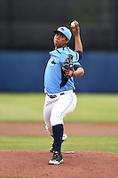 Charlotte Stone Crabs pitcher Reinaldo Lopez (36) delivers a pitch during a game against the Fort Myers Miracle on April 16, 2014 at Charlotte Sports Park in Port Charlotte, Florida.  Fort Myers defeated Charlotte 6-5.  (Mike Janes/Four Seam Images)