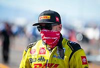 Nov 1, 2020; Las Vegas, Nevada, USA; NHRA funny car driver J.R. Todd during the NHRA Finals at The Strip at Las Vegas Motor Speedway. Mandatory Credit: Mark J. Rebilas-USA TODAY Sports