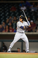 Salt River Rafters Isan Diaz (12), of the Milwaukee Brewers organization, during a game against the Mesa Solar Sox on October 22, 2016 at Sloan Park in Mesa, Arizona.  Salt River defeated Mesa 7-2.  (Mike Janes/Four Seam Images)