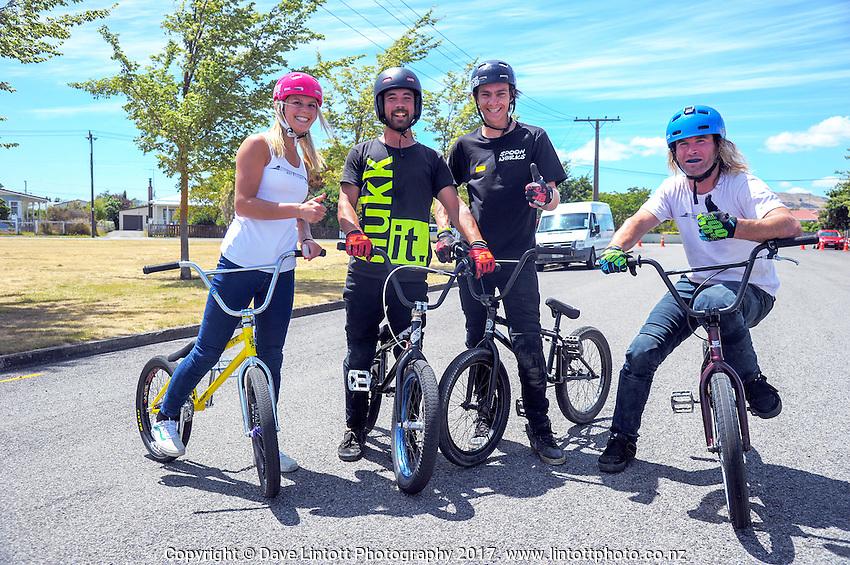 Huri Huri FreeStyleLifestyle BMX display in Martinborough, New Zealand on Tuesday, 24 January 2017. Photo: Dave Lintott / lintottphoto.co.nz