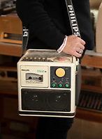 BNPS.co.uk (01202) 558833. <br /> Pic: CorinMesser/BNPS<br /> <br /> Pictured: A Philips 'Moving Sound' tape player. <br /> <br /> Radio Ga-Ga..<br /> <br /> A vast collection of vintage radios, televisions and record players have emerged for sale at auction following the death of their owner.<br /> <br /> The group, which consists of hundreds of old-school electronics, was amassed over several decades by an eccentric and dedicated collector.<br /> <br /> An electrician by trade, he housed the goods in a private museum near Dorchester in Dorset but rarely displayed them to the general public.