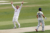 Simon Harmer of Essex appeals for the wicket of Ollie Robinson during Essex CCC vs Kent CCC, Bob Willis Trophy Cricket at The Cloudfm County Ground on 1st August 2020