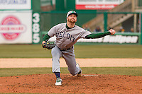Beloit Snappers pitcher Andrew Tomasovich (30) delivers a pitch during a Midwest League game against the Wisconsin Timber Rattlers on April 10th, 2016 at Fox Cities Stadium in Appleton, Wisconsin.  Wisconsin defeated Beloit  4-2. (Brad Krause/Four Seam Images)