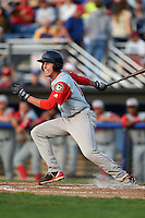 Lowell Spinners outfielder Bryan Hudson (12) at bat during a game against the Batavia Muckdogs on July 18, 2014 at Dwyer Stadium in Batavia, New York.  Lowell defeated Batavia 11-2.  (Mike Janes/Four Seam Images)