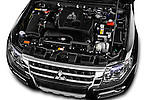 Car Stock 2016 Mitsubishi Pajero Instyle 5 Door Suv Engine  high angle detail view