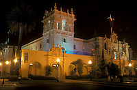 San Diego, California, CA, House of Hospitality at Balboa Park in the evening in San Diego.